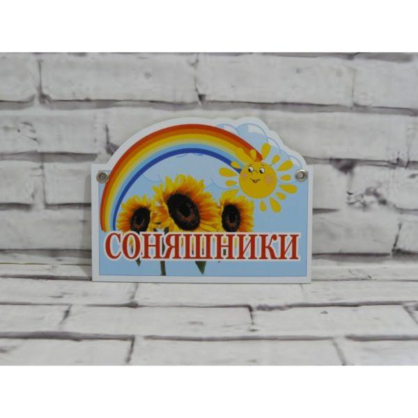 Табличка для группы из пластика 31х21 см (код 10305)