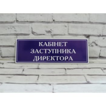 Табличка для школы из пластика 30х10 см (код 90325)