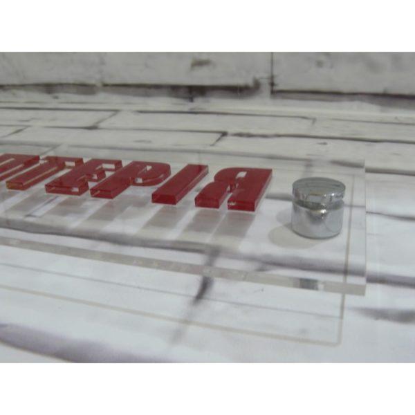 Табличка на держателях с объемными элементами 30х10 см (код 70207)