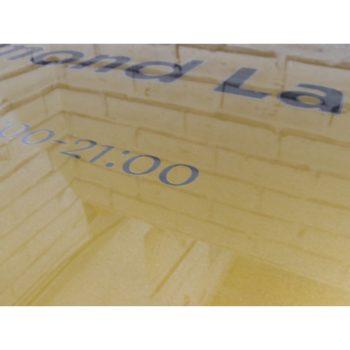 Табличка на держателях 60х40 см (код 90403)
