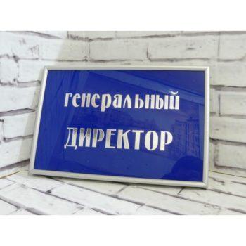 Табличка на дверь из акрила с рамкой 30х20 см (код 90208.1)