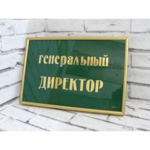 Табличка на дверь из акрила с рамкой 30х20 см