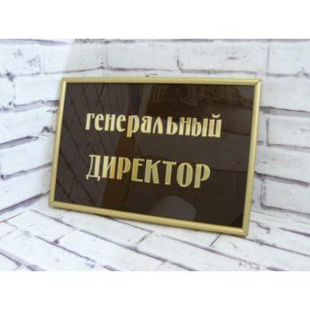 Табличка на дверь из акрила с рамкой 30х20 см (код 90208)