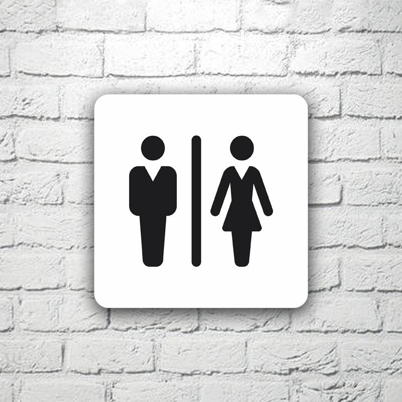 Табличка на туалет 15х15 см (код 90807)