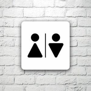 Табличка на туалет 15х15 см (код 90812)