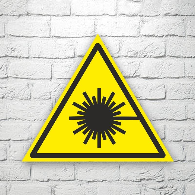 Табличка Опасно. Лазерное излучение 22х19 см (код 90602)