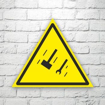 Табличка Осторожно. Падающие предметы 22х19 см (код 90627)