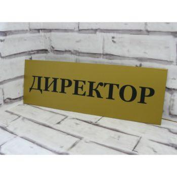 Табличка на дверь из пластика 30х10 см (код 90216)