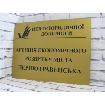 Табличка из пластика 60х40 см (код 90409)