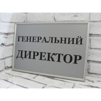 Табличка на дверь из пластика с рамкой 30х20 см (код 90213)