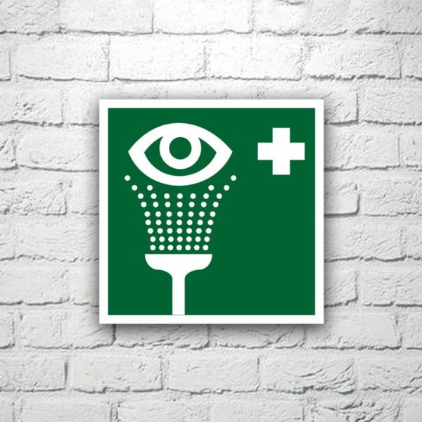 Знак Пункт обработки глаз 15х15 см (код 90533)