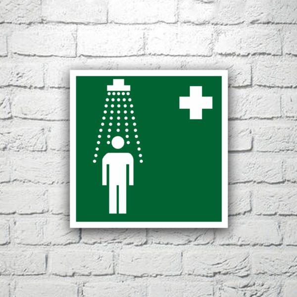 Знак Пункт приема гигиенических процедур 15х15 см (код 90534)