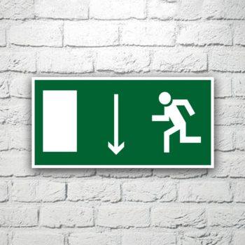 Знак Указатель двери эвакуационного выхода (левосторонний) 30х15 см (код 90525)