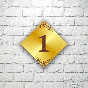 Табличка-номерок для кабинета 12х12 см (код 90327)