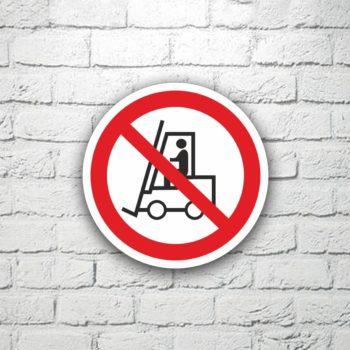 Табличка Запрещается движение погрузчиков 15х15 см (код 91108)