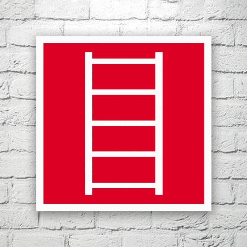 Табличка Пожарная лестница 20х20 см (код 91307)